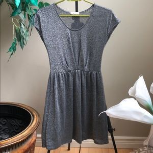 urban outfitters Silver sparkly dress